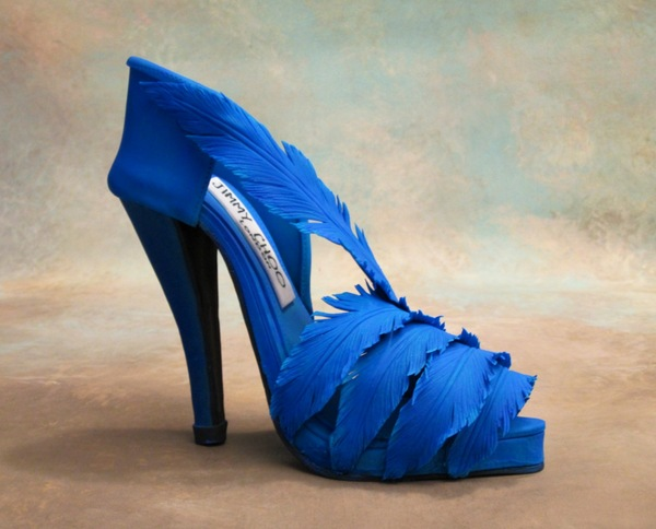 Iris blue shoe